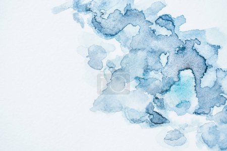 Photo for Abstract wallpaper with blue watercolor blots - Royalty Free Image
