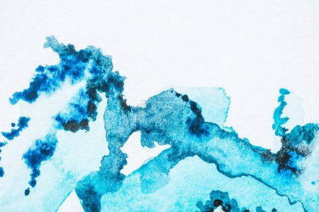abstract bright blue watercolor background