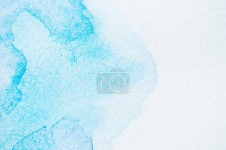 abstract handmade turquoise background with copy space