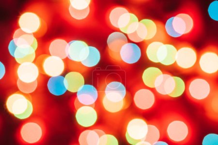 Christmas background with colourful Bokeh And Bright Lights