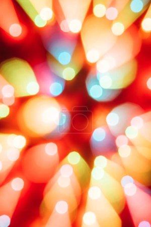 Foto de Fondo de Navidad con coloridas luces Bokeh y brillante - Imagen libre de derechos