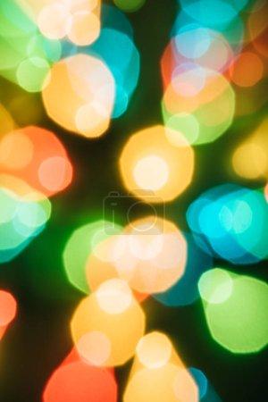 Photo pour Fond de Noël avec Bokeh coloré et Bright Lights - image libre de droit
