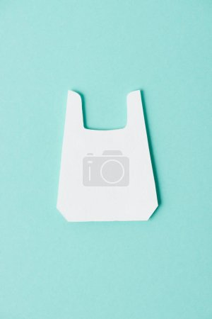 Model of white packet on blue background