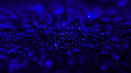 abstract background with blue defocused glitter