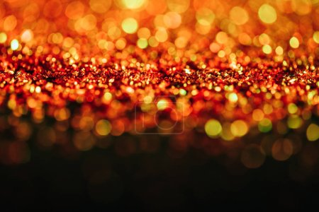 new year background with red glitter and bokeh