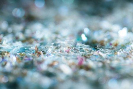 Photo pour Abstrait fond brillant avec des paillettes argent - image libre de droit