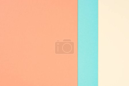 minimalistic modern yellow, blue and orange abstract background with copy space