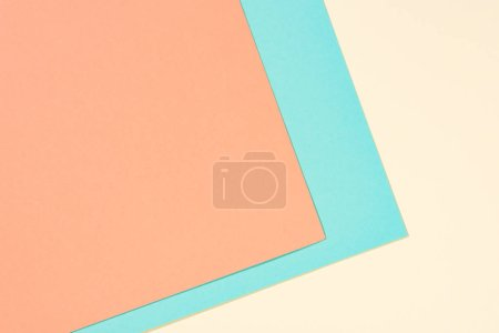 simple modern yellow, blue and orange abstract background with copy space