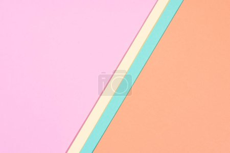 minimalistic modern yellow, blue, orange and pink abstract background with copy space
