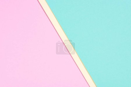 minimalistic modern yellow, blue and pink abstract background with copy space