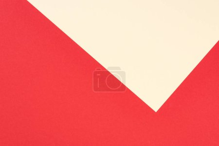 Photo for Minimalistic modern red and yellow abstract background with copy space - Royalty Free Image