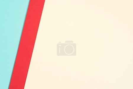 Photo for Simple modern blue, red and yellow abstract background with copy space - Royalty Free Image