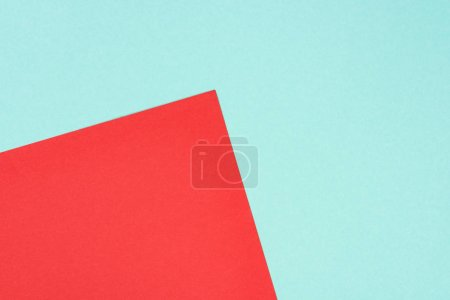 minimalistic modern blue and red abstract background with copy space