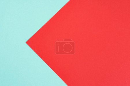 simple modern blue and red abstract background with copy space