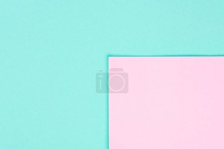 simple modern blue and pink abstract background with copy space