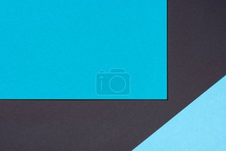 minimalistic modern blue and black abstract background with copy space