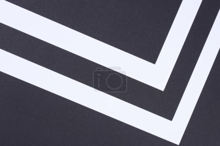 geometric modern white and black abstract background with copy space