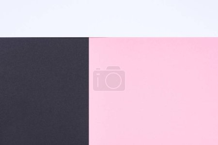 minimalistic modern white, pink and black abstract background with copy space