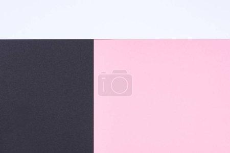Photo pour Minimaliste moderne fond abstrait blanc, rose et noir avec espace de copie - image libre de droit