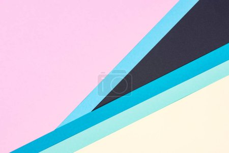 abstract modern blue, pink, yellow and black background with copy space