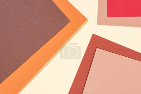 abstract modern brown, yellow, beige and red background with copy space