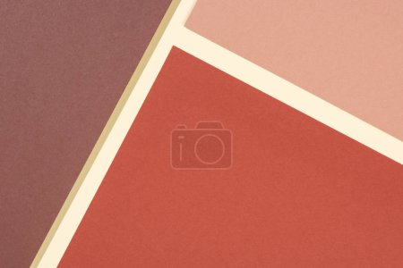 Photo for Geometric modern brown, yellow and beige abstract background with copy space - Royalty Free Image