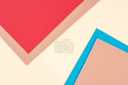 simple modern, blue, yellow, red and beige abstract background with copy space