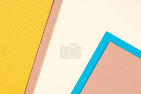 Photo for Abstract modern, blue, yellow and beige background with copy space - Royalty Free Image