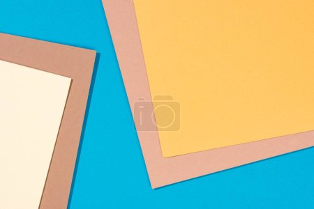 abstract modern, blue, yellow and beige background with copy space