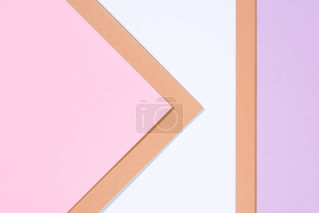 Photo for Minimalistic modern multicolored abstract background with copy space - Royalty Free Image