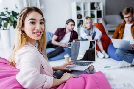 asian businesswoman working on startup project in office with laptop