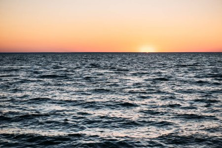 Photo for Majestic sea view with waves and beautiful sunset - Royalty Free Image