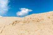 """Постер, картина, фотообои """"взгляд ландшафта с песчаных дюн, Голубое небо и облака."""""""