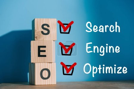 alphabet cubes with SEO - search engine optimize