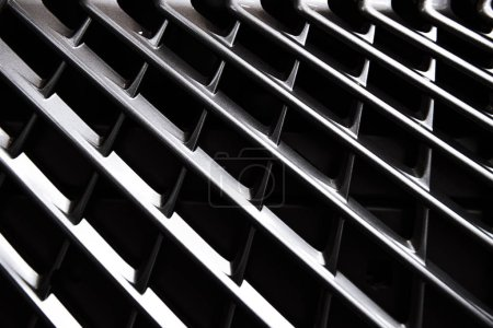 Photo for Full frame of car metal grating as background - Royalty Free Image