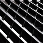 Full frame of car metal grating as background...