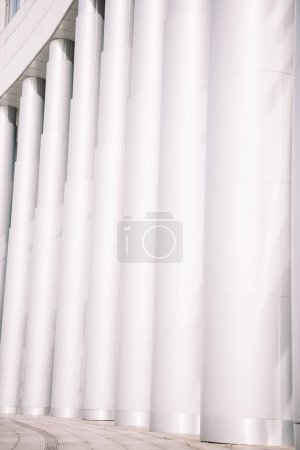 traditional old-fashioned white columns background