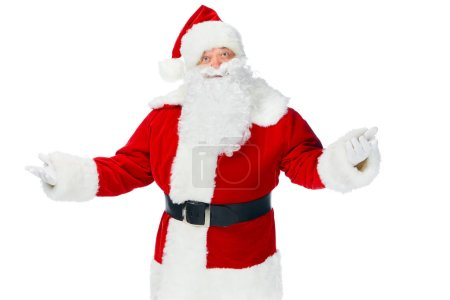santa claus gesturing and posing isolated on white
