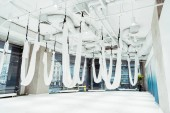 Light spacious studio with panoramic windows equipped for antigravity yoga