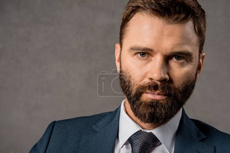 Photo for Close up of serious bearded businessman in formalwear - Royalty Free Image