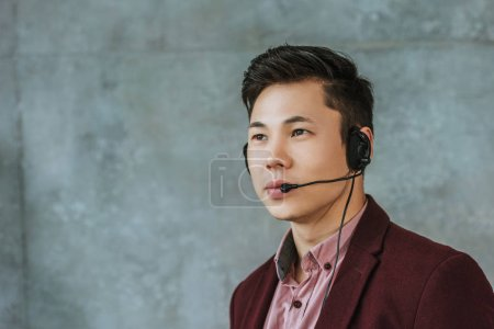 handsome young asian call center