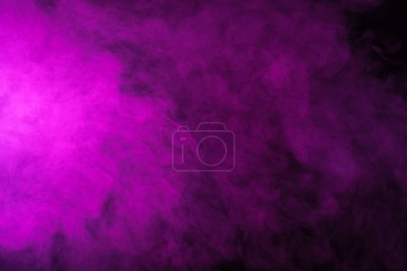 abstract pink smoke on black background