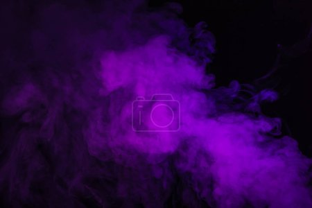 purple spiritual smoke on black background