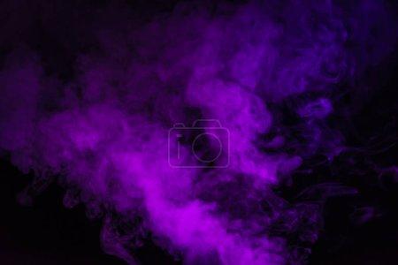 purple smoke on creative black background