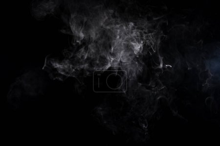 abstract background with grey steam on black