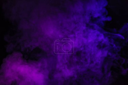 creative black background with purple smoke