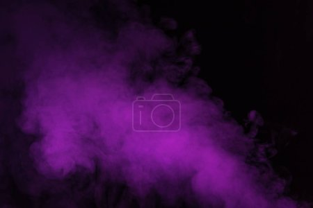 abstract black background with violet smoke