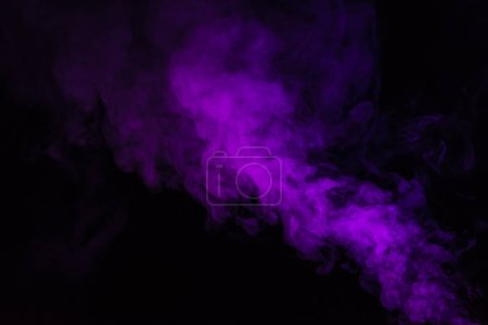 abstract black background with purple steam