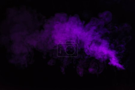 Photo for Black background with purple smoky swirl - Royalty Free Image