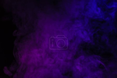 Photo for Abstract black background with purple smoke - Royalty Free Image